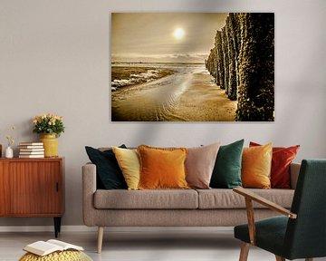 Palenrij op het strand van Vlissingen