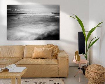 Long exposure shot op het strand van Vlissingen van Fotografie Jeronimo