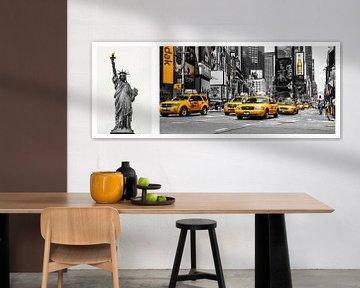 New York - Collage  von Hannes Cmarits