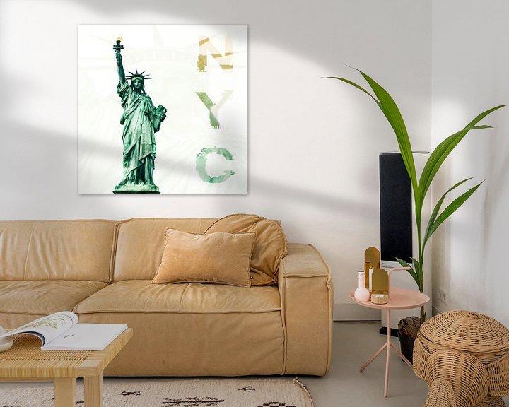 Sfeerimpressie: NYC - Lady Liberty van Hannes Cmarits