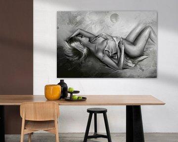 Schlafende Venus - erotische Kunst von Marita Zacharias
