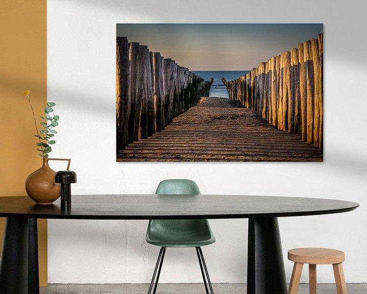 Sfeerimpressie: Tussen de palen op het strand van Domburg van Fotografie Jeronimo