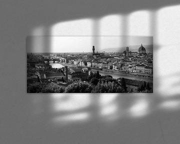 Panorama Florence, vanaf Piazzala Michelangelo, Toscane Italie van Jasper van de Gein Photography