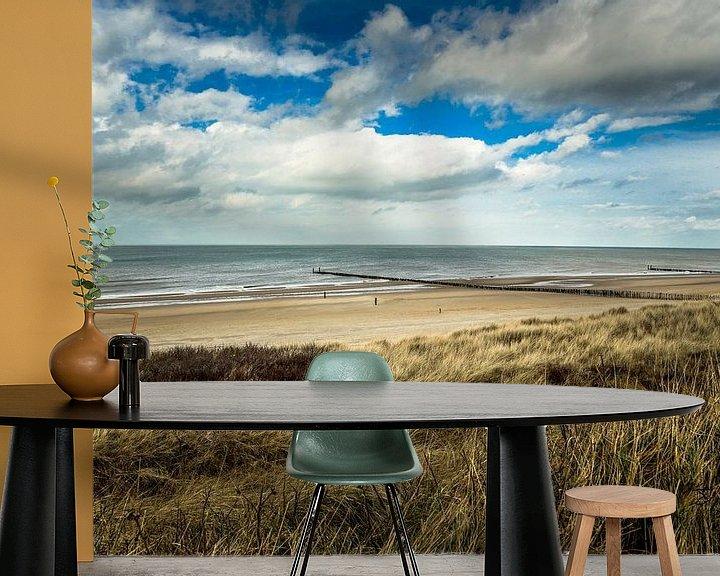 Sfeerimpressie behang: Aan het strand stil en verlaten van Fotografie Jeronimo