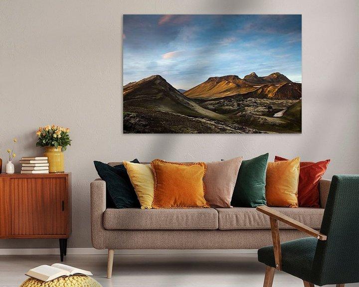 Sfeerimpressie: Zonsondergang over de bergen van Ab Wubben