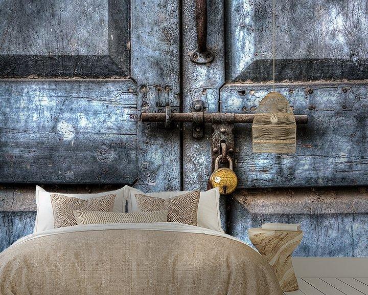 Beispiel fototapete: blue door von Ron van Ewijk