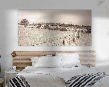 Winters landschap in Simpelveld van John Kreukniet