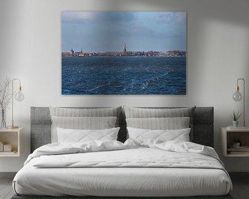 Skyline van Enkhuizen vanaf het water