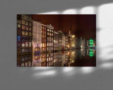 Nachtfoto Damrak Amsterdam