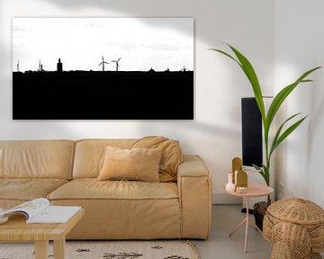 Silhouet van Westkapelle (Zeeland) van Fotografie Jeronimo