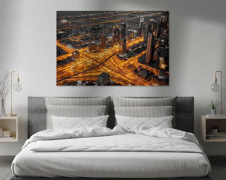 Sfeerimpressie: Dubai aderen van de stad. van Timo  Kester
