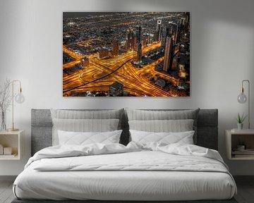 Dubai aderen van de stad. van Timo  Kester