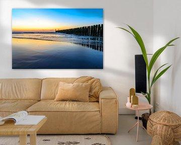 Zee bij Domburg bij zonsondergang sur 7Horses Photography