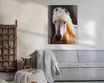 Dierlijke portret paard van IJsland van Marita Zacharias