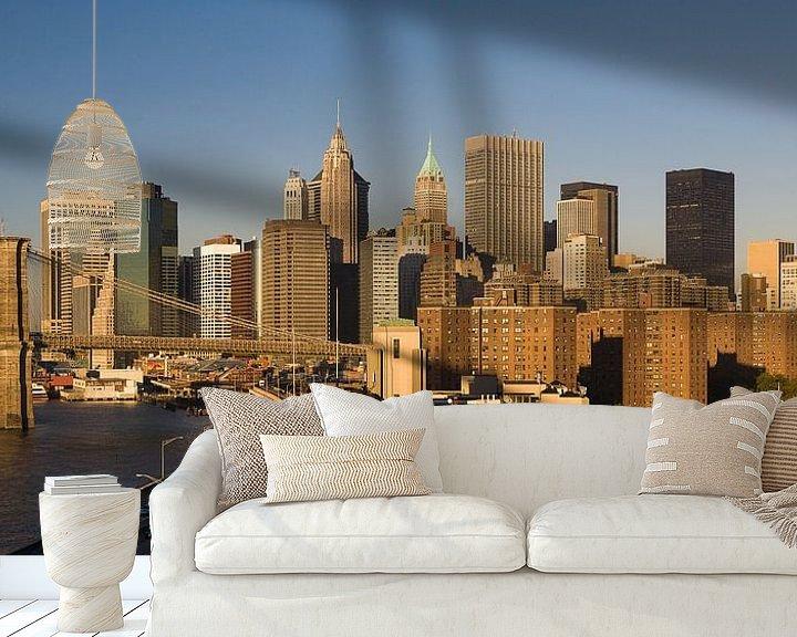 Sfeerimpressie behang: Het oog op Manhattan New York  van JPWFoto