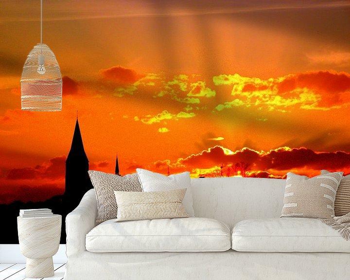 Beispiel fototapete: stralende zonsondergang von Geert Heldens