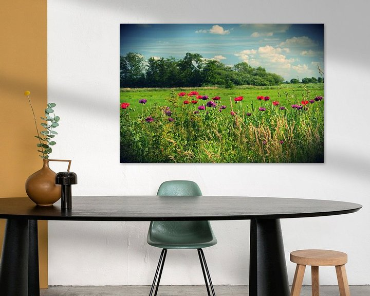 Beispiel: Bank of Poppies (Intens Color) von King Photography