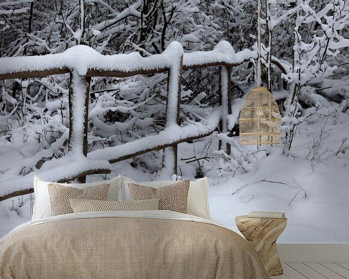 Beispiel fototapete: Winterlandschaft von Vanessa Devolder