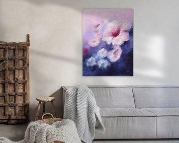Traum in Violett - abstrakte Malerei von Marita Zacharias