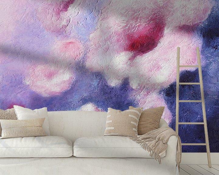 Beispiel fototapete: Traum in Violett - abstrakte Malerei von Marita Zacharias