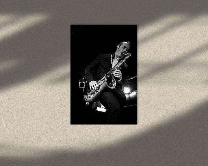 """Sfeerimpressie: Saxofonist van """"Get the blessing"""". van Ton de Koning"""