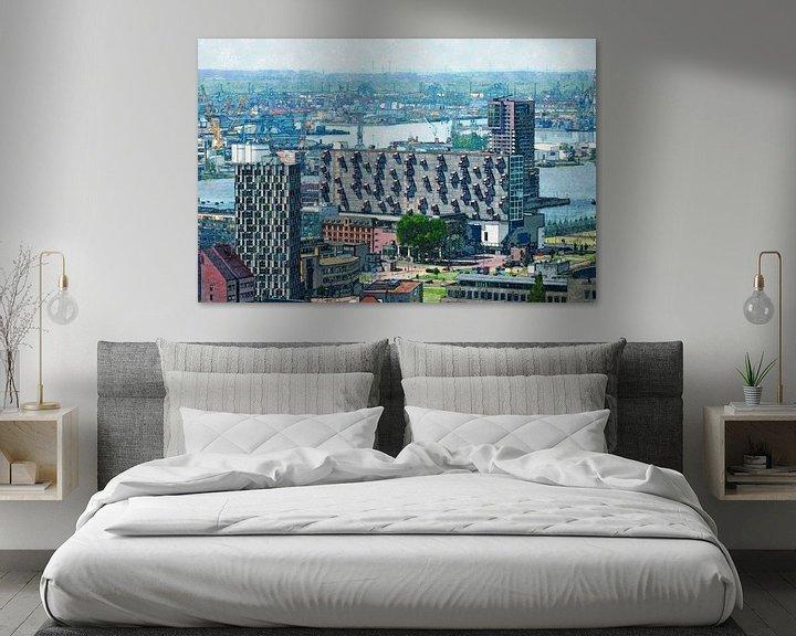 Sfeerimpressie: Het Lloydkwartier en de Rotterdamse haven van Frans Blok