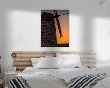 Windmill at sunset. van Carlos Charlez