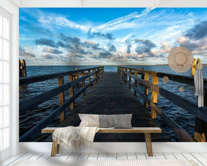 Sfeerimpressie behang: IJsselmeer van Joke Beers-Blom
