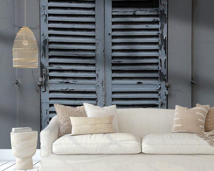 Sfeerimpressie behang: Parijs' raam van FotovanHenk