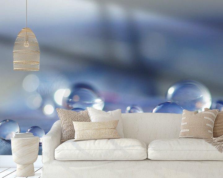 Sfeerimpressie behang: Blue Lagoon van Carla Mesken-Dijkhoff