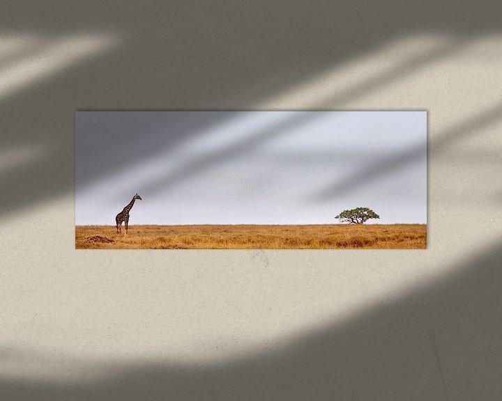 Sfeerimpressie: Giraffe Serengeti van Paul Jespers