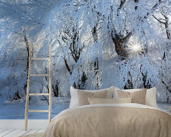 Sfeerimpressie behang: als in een winterverhaal... van Daniela Beyer