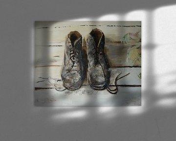 Schoenen stilleven von Coen de Haan