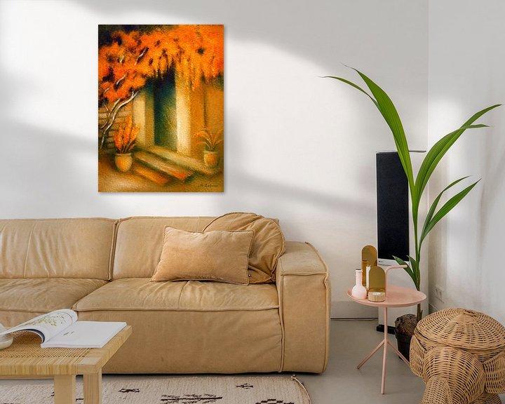 Beispiel: Mediterranes Licht gemalt von Marita Zacharias
