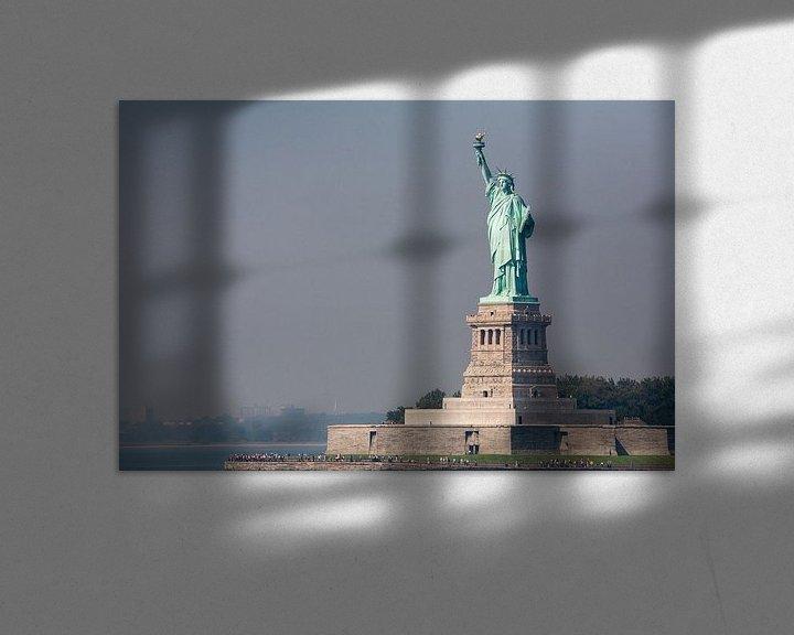 Sfeerimpressie: Vrijheidsbeeld New York vanaf ferry  van JPWFoto