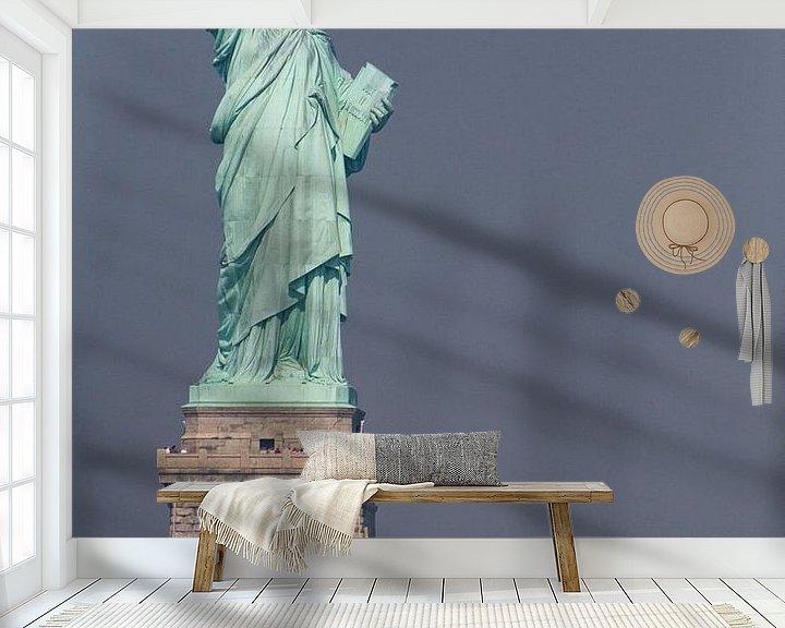 Sfeerimpressie behang: Vrijheidsbeeld New York Liberty Island van JPWFoto