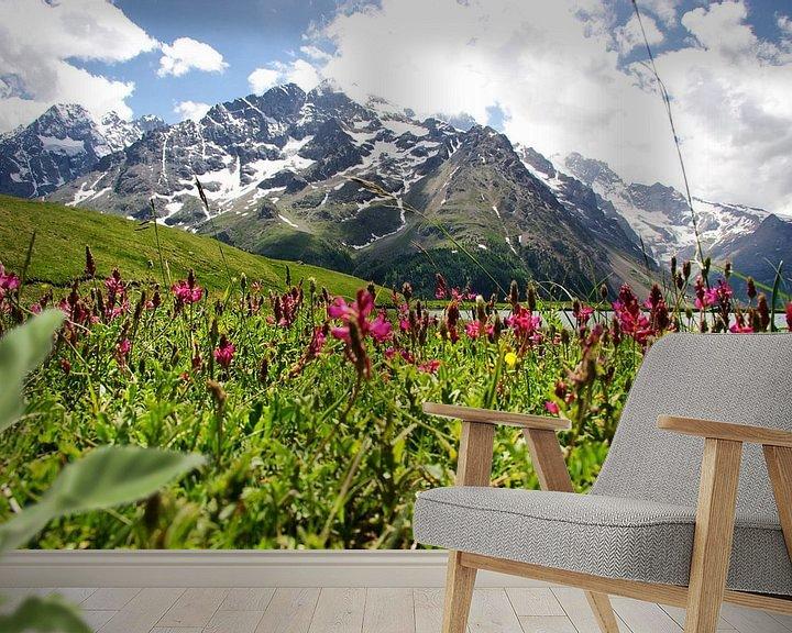 Sfeerimpressie behang: Distant Mountain van Stefan Kraan