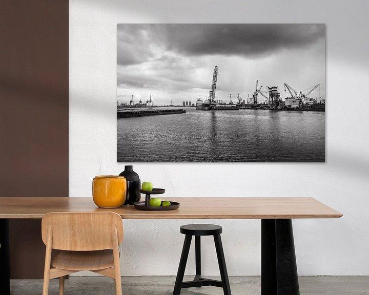 Sfeerimpressie: Haven van Rotterdam van Ton de Koning