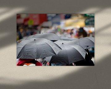 Regen in New York van JPWFoto