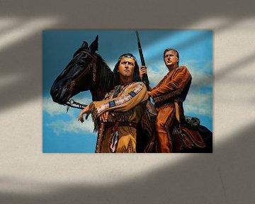 Winnetou Old Shatterhand schilderij sur Paul Meijering