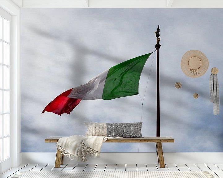 Sfeerimpressie behang: Italian flag van Jaco Verheul