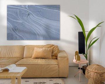 Lijnen in ijs van Elles Rijsdijk