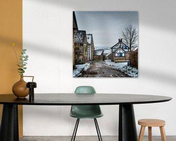 Limburgs winterlandschap van Wim Roebroek