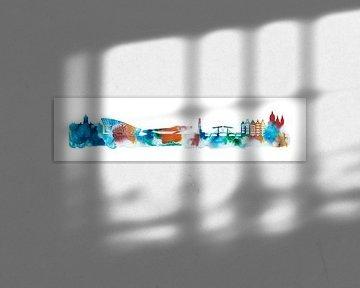 Amsterdam in watercolors van Harry Hadders