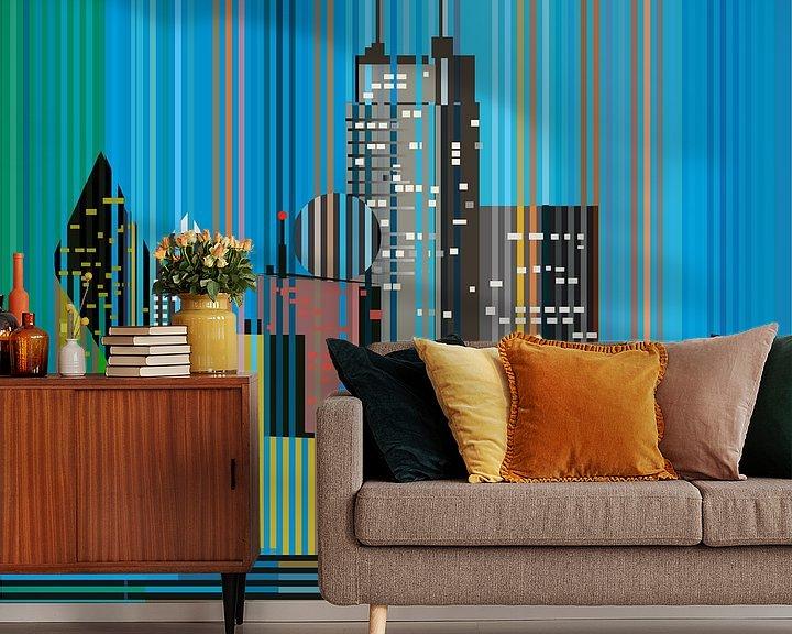 Sfeerimpressie behang: Dallas van Filip Mobach