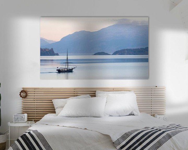Sfeerimpressie: Zeilboot in Noorwegen van Paul Jespers