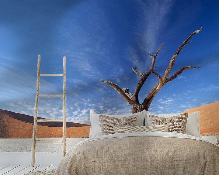 Sfeerimpressie behang: Deadvlei Namibie van Ellen van Drunen