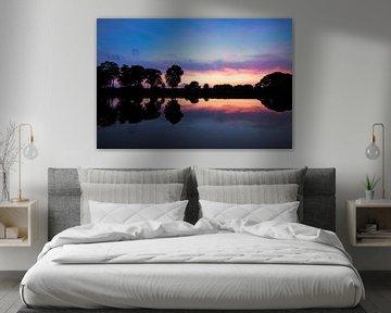 Sunset at a river van Malte Pott