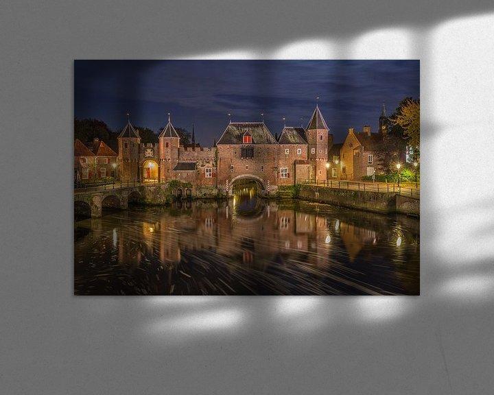 Sfeerimpressie: De Koppelpoort in Amersfoort in de avond - 4 van Tux Photography