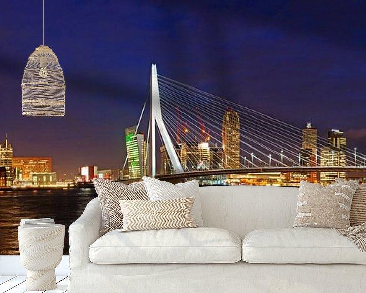 Impression: Rotterdam, Erasmusbrug en Kop van Zuid sur Sjoerd Mouissie